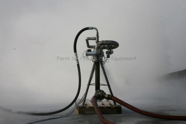 Test fire electric water/foam monitor with powder branchpipe FI-PEM